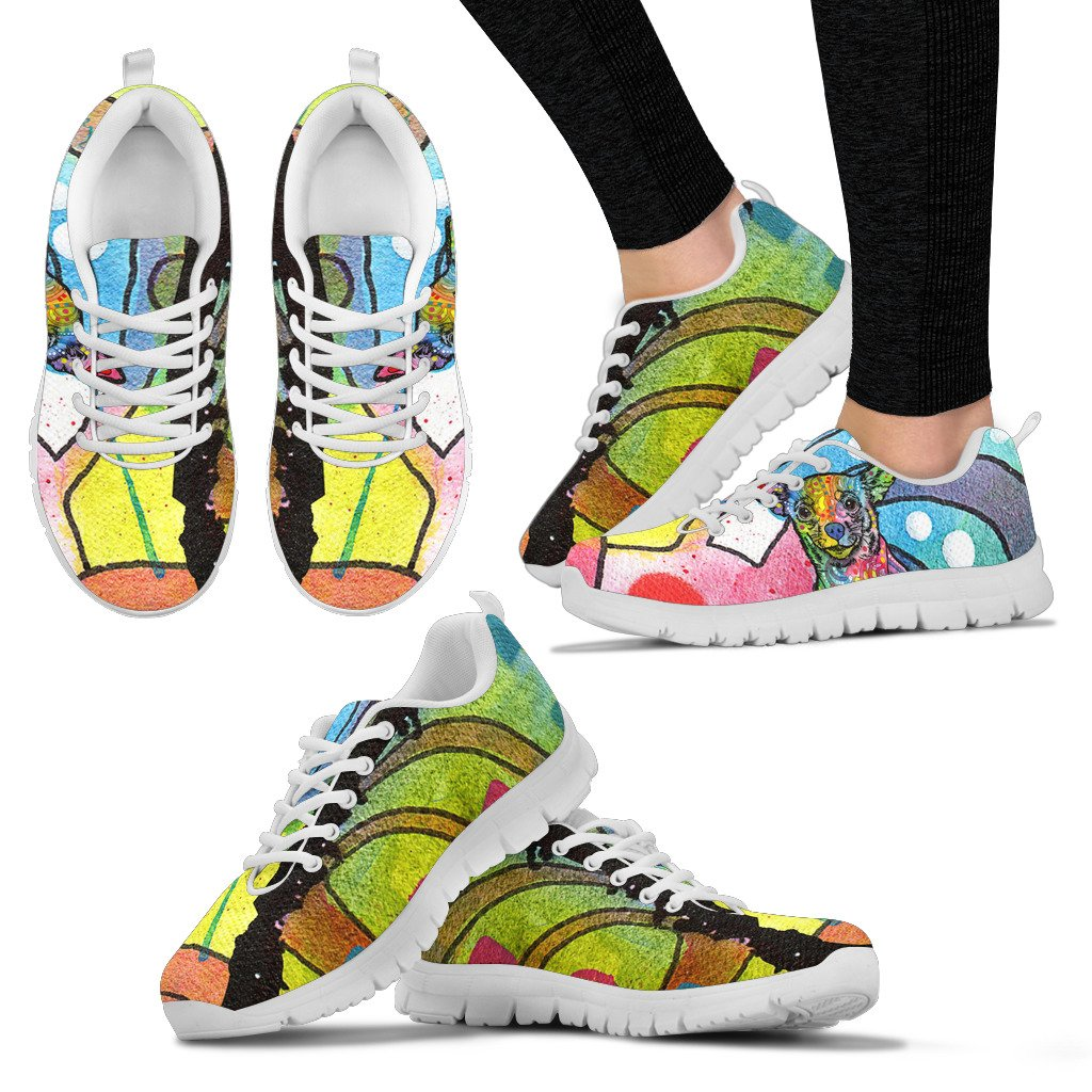 Chihuahua Design Women's Sneakers - Dean Russo Art
