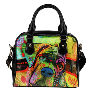 Mastiff Shoulder Handbag - Dean Russo Art