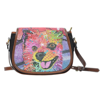 Pomeranian Saddle Bag - Dean Russo Art