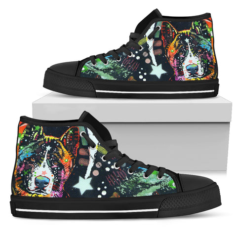 Akita Men's High Top Canvas Shoes - Dean Russo Art