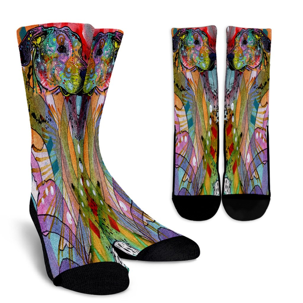 Great Dane Design Crew Socks - Dean Russo Art - Jill 'n Jacks