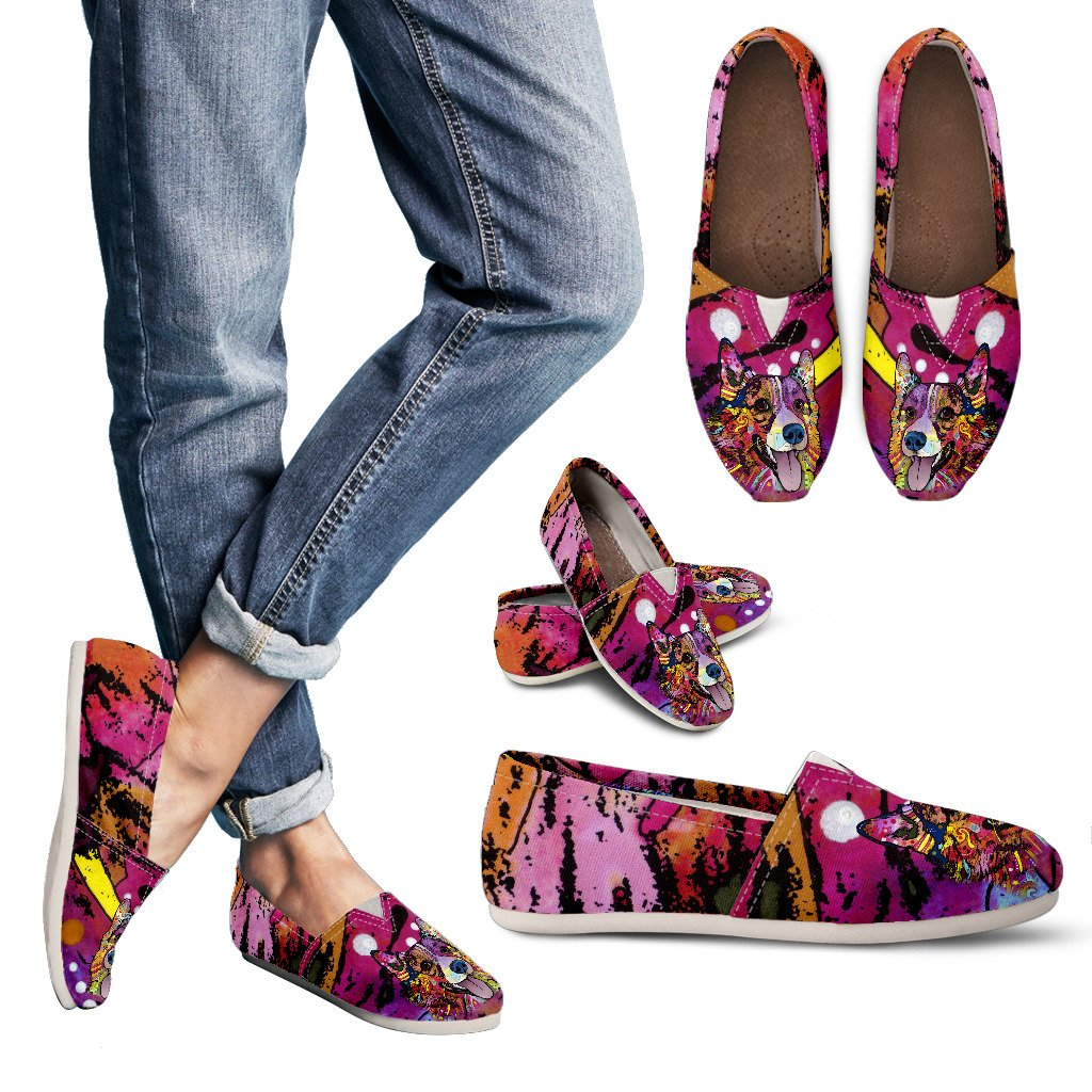 Corgi Design Women's Casual Shoes - Dean Russo Art