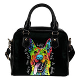 German Shepherd Shoulder Handbag - Dean Russo Art - Jill 'n Jacks