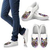 Cairn Terrier Design Men's Slip Ons - Dean Russo Art
