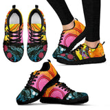 Boston Terrier Design Women's Sneakers - Dean Russo Art