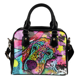 Irish Setter Series Shoulder Handbag - Dean Russo Art