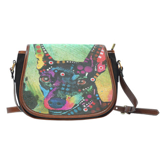 Miniature Pinscher Saddle Bag - Dean Russo Art