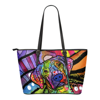 Vizsla Small Leather Tote Bags - Dean Russo Art - Jill 'n Jacks