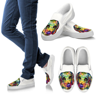 Beagle Design Women's Slip Ons - Dean Russo Art - Jill 'n Jacks