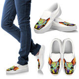 Chihuahua Design Men's Slip Ons - Dean Russo Art