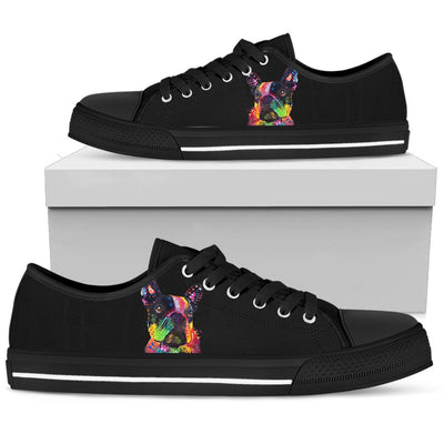 French Bulldog Men's Low Top Canvas Shoes - Dean Russo Art - Jill 'n Jacks