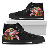 Cocker Spaniel Women's High Top Canvas Shoes - Dean Russo Art