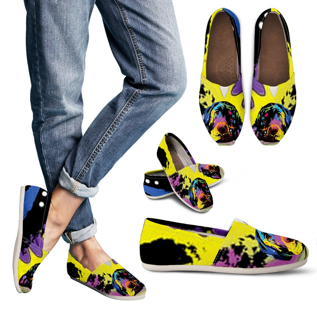 Labrador Design Women's Casual Shoes- Dean Russo Art