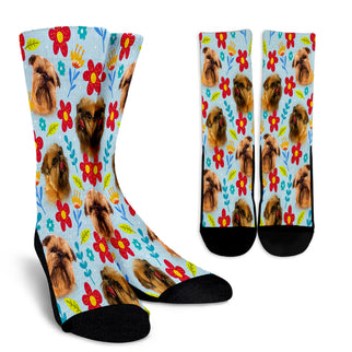 Brussels Griffon Design Crew Socks - JillnJacks Exclusive - Jill 'n Jacks