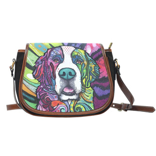 Saint Bernard Saddle Bag - Dean Russo Art
