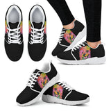 Pomeranian Design Women's Athletic Sneakers - Dean Russo Art