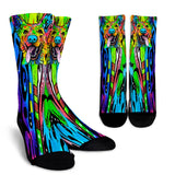 German Shepherd Design Crew Socks - Dean Russo Art