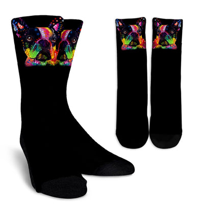 French Bulldog Design Crew Socks - Dean Russo Art - Jill 'n Jacks