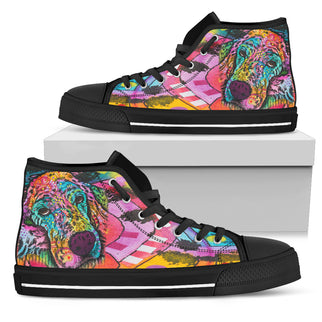 Irish Setter Series Women's High Top Canvas Shoes - Dean Russo Art