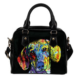 Dachshund Shoulder Handbag - Dean Russo Art - Jill 'n Jacks