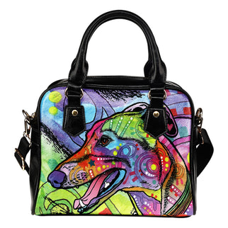 Greyhound Shoulder Handbag - Dean Russo Art