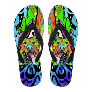 German Shepherd Design Men's Flip Flops - Dean Russo Art - Jill 'n Jacks