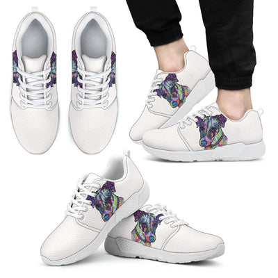 Jack Russell Terrier Design Men's Athletic Sneakers - Dean Russo Art - Jill 'n Jacks