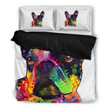 French Bulldog Bedding Set - Duvet Cover plus Two Pillowcases - Dean Russo Art