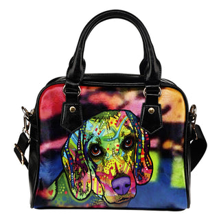 Beagle Shoulder Handbag - Dean Russo Art - Jill 'n Jacks