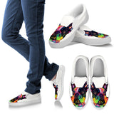 French Bulldog Design Men's Slip Ons - Dean Russo Art