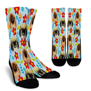 Pekingese Design Crew Socks - JillnJacks Exclusive - Jill 'n Jacks