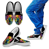 Bulldog Design Kids Slip Ons - Dean Russo Art - Jill 'n Jacks