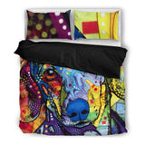Dachshund Bedding Set - Duvet Cover and 2 Pillowcases - Dean Russo Art