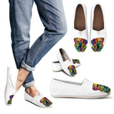 Bulldog Design Women's Casual Shoes - Dean Russo Art