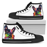 French Bulldog Men's High Top Canvas Shoes - Dean Russo Art - Jill 'n Jacks