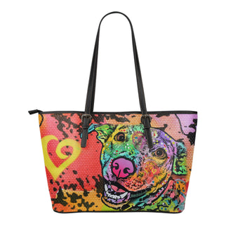 Labrador Small Leather Tote Bags - Dean Russo Art