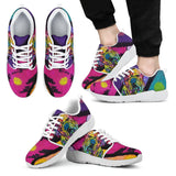 Bulldog Design Men's Athletic Sneakers - Dean Russo Art
