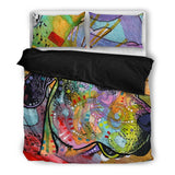 Great Dane Bedding Set - Duvet / Comforter Cover and Two Pillow Covers - Dean Russo Art