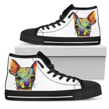 Chihuahua Men's High Top Canvas Shoes - Dean Russo Art