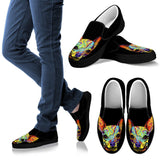 Chihuahua Design Women's Slip Ons - Dean Russo Art