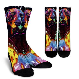 German Shorthaired Pointer Design Crew Socks - Dean Russo Art - Jill 'n Jacks