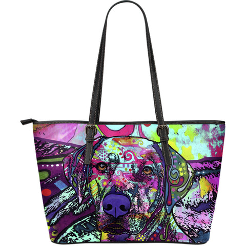 Rhodesian Ridgeback Large Leather Tote Bag - Dean Russo Art