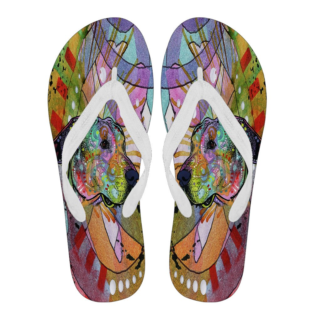 Great Dane Design Women's Flip Flops - Dean Russo Art - Jill 'n Jacks