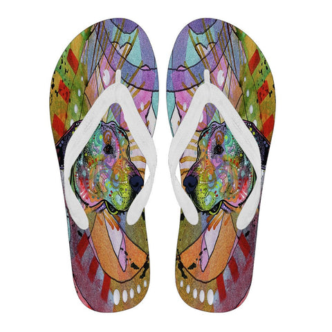 Great Dane Design Women's Flip Flops  - Dean Russo Art