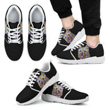 Cairn Terrier Design Men's Athletic Sneakers - Dean Russo Art
