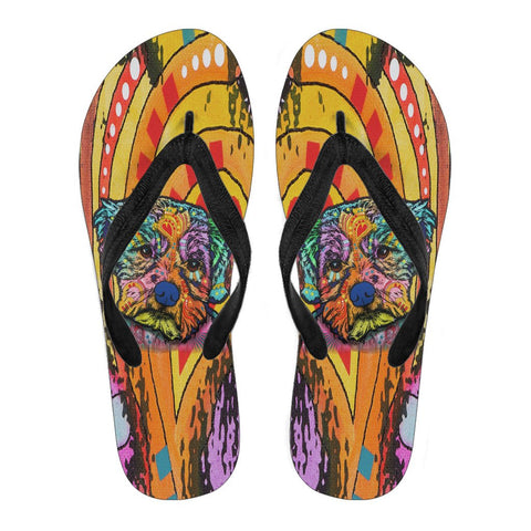 Maltese Design Men's Flip Flops  - Dean Russo Art