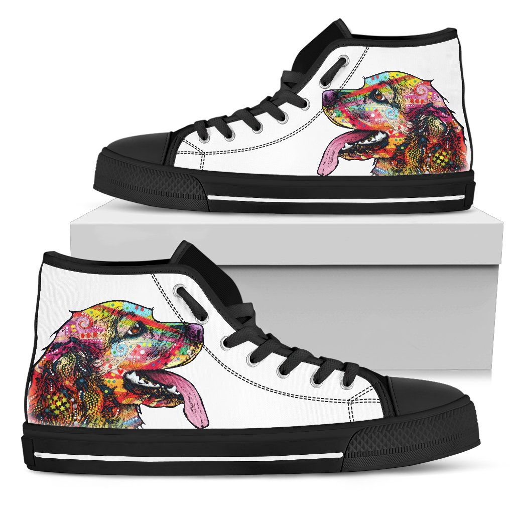 Cocker Spaniel Men's High Top Canvas Shoes - Dean Russo Art - Jill 'n Jacks