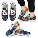 Dachshund Design Men's Athletic Sneakers - Dean Russo Art - Jill 'n Jacks