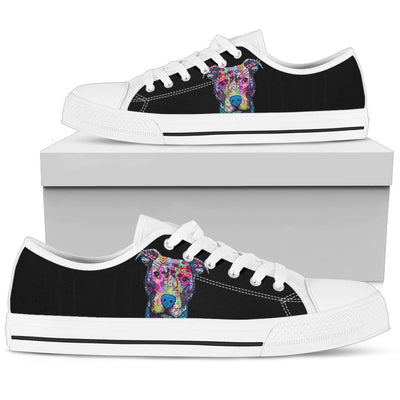 Pitbull Men's Low Top Canvas Shoes - Dean Russo Art - Jill 'n Jacks