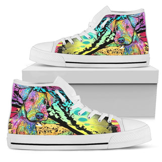 Airedale Terrier Women's High Top Canvas Shoes - Dean Russo Art - Jill 'n Jacks